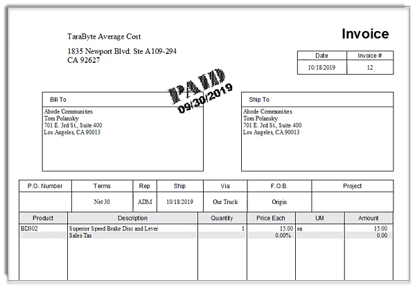 Fishbowl Product Invoice Template Final-3